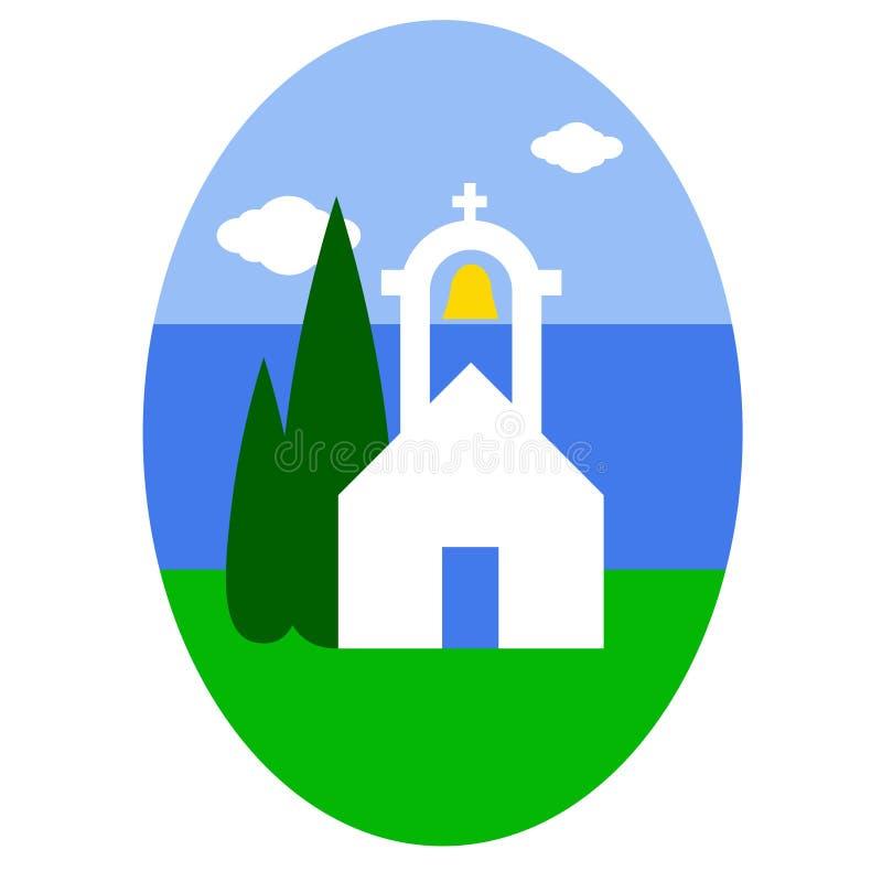 Chiesa greca royalty illustrazione gratis