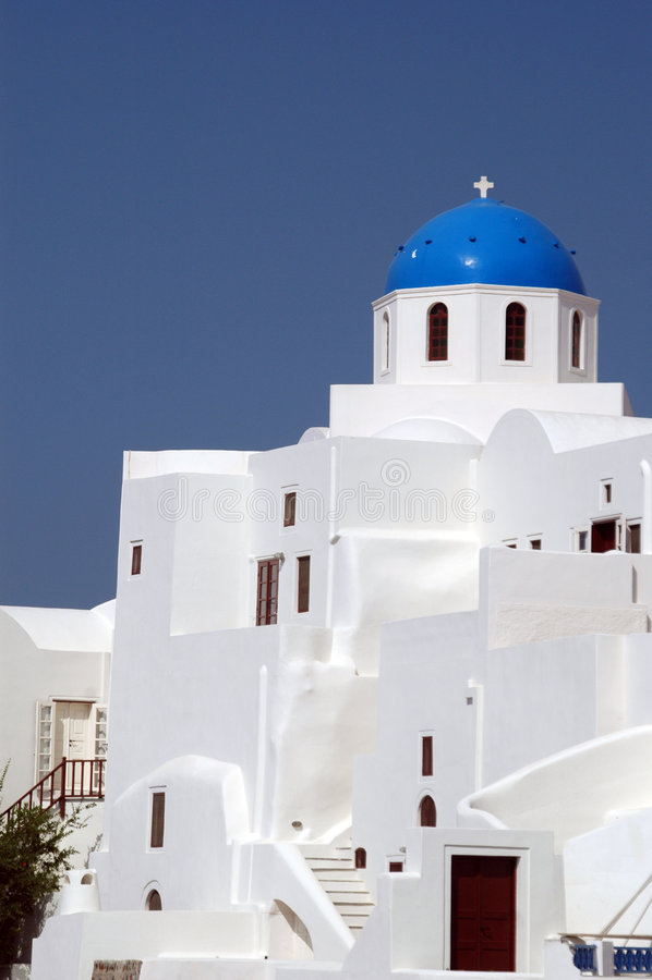 Chiesa greca dell'isola fotografia stock libera da diritti