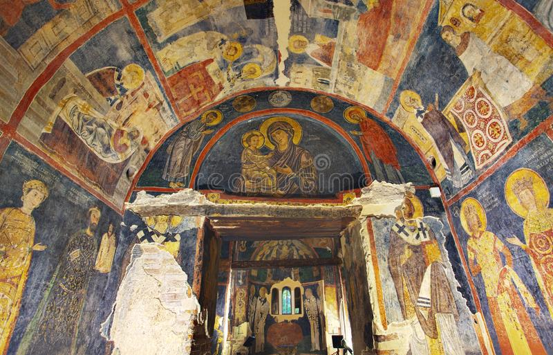 Chiesa interna di Boyana delle pitture fotografia stock libera da diritti