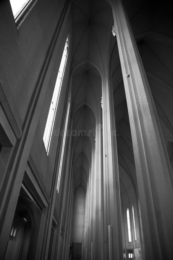 Chiesa interna di Hallgrimskirkja fotografie stock libere da diritti