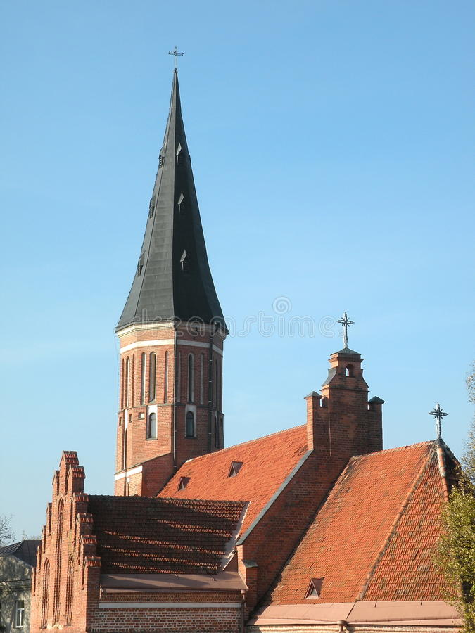Chiesa a Kaunas, Lituania fotografia stock libera da diritti