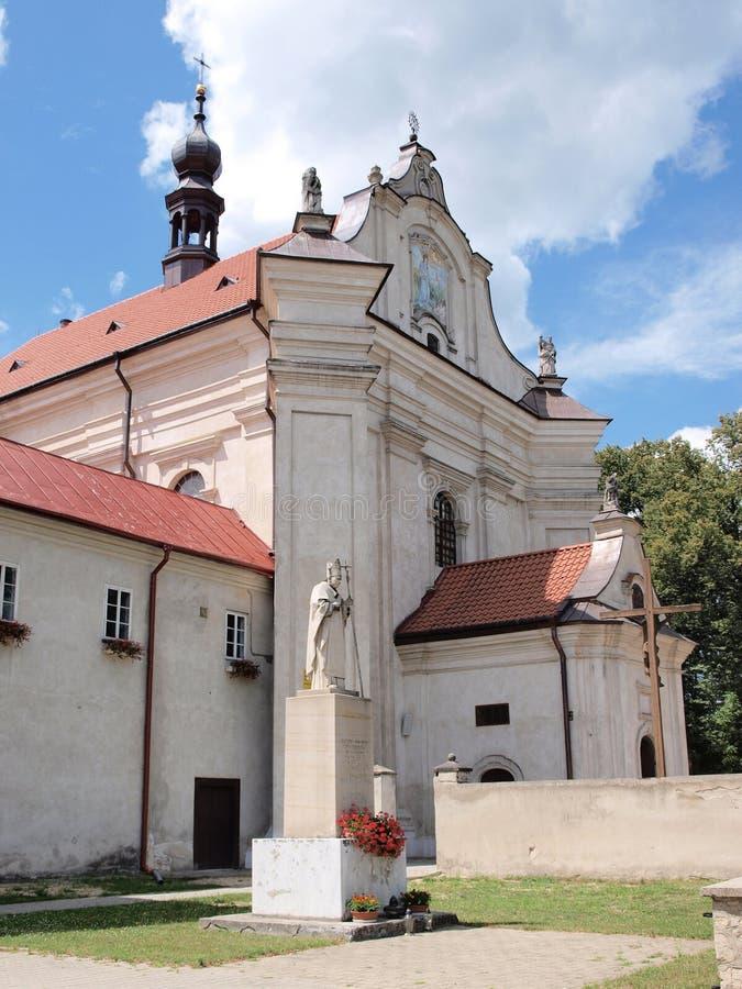 Chiesa in Krasnobrod, Polonia immagini stock