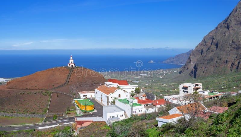 Chiesa in La Frontera, EL Hierro fotografia stock libera da diritti