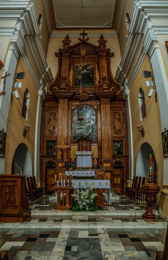 Chiesa la nostra signora in Lomza fotografie stock