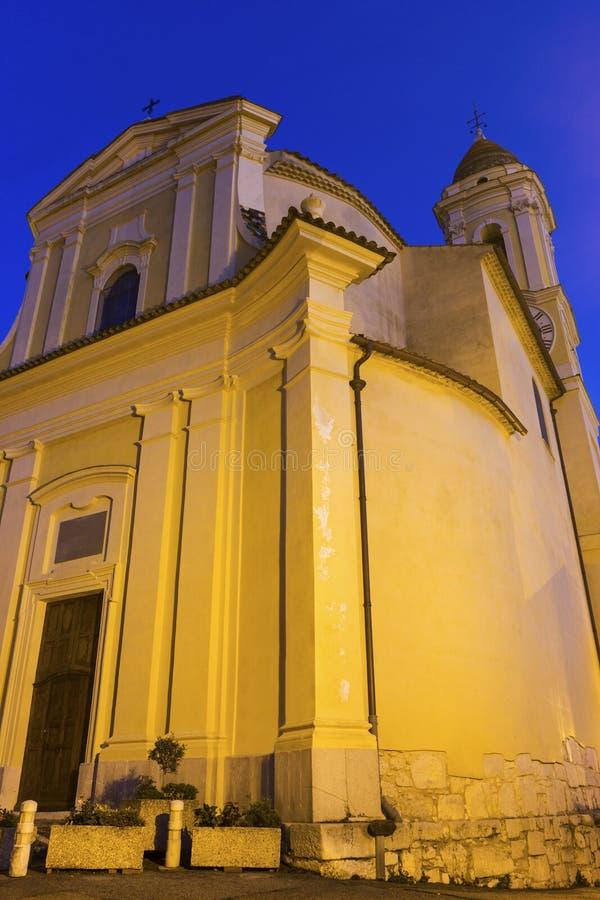 Chiesa in La Turbie in Francia immagini stock