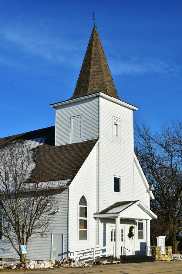 Chiesa luterana della primaverina fotografia stock libera da diritti