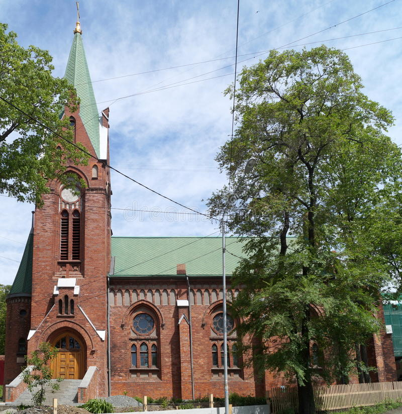Chiesa luterana evangelica di St Paul vladivostok immagini stock