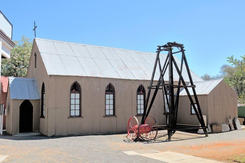 Chiesa luterana storica, Kimberley immagini stock libere da diritti