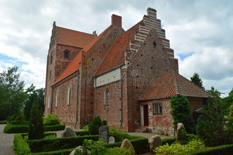 Chiesa Møn di Keldby immagine stock libera da diritti