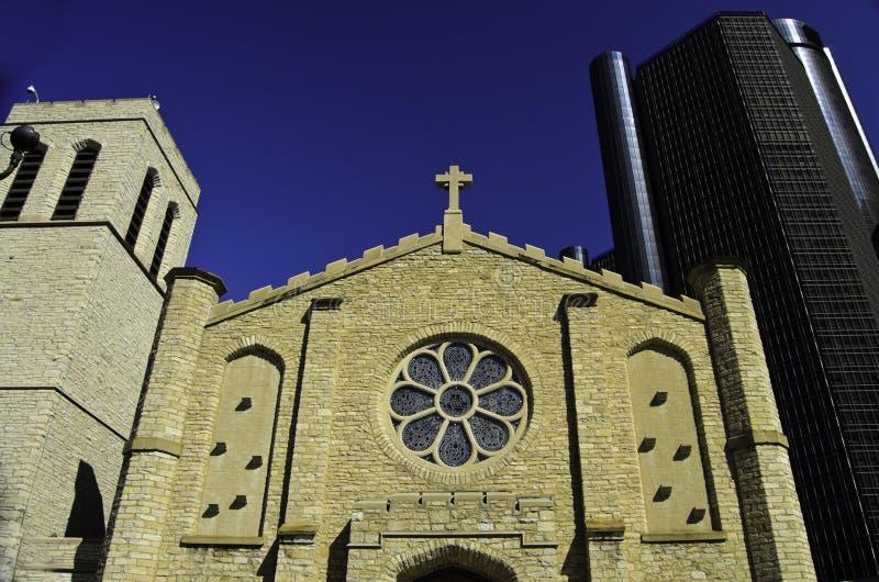 Chiesa medievale a Detroit fotografie stock