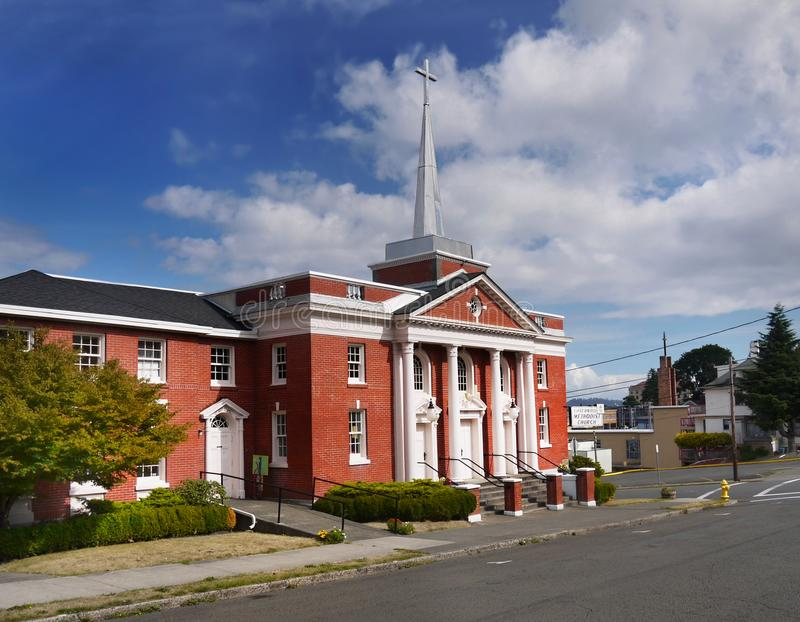 Chiesa metodista, Astoria Oregon Stati Uniti immagine stock