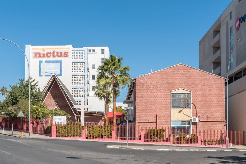 Chiesa metodista centrale a Windhoek fotografie stock libere da diritti