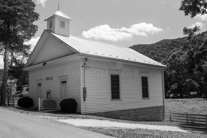 Chiesa metodista del mulino storico di McDonald immagine stock