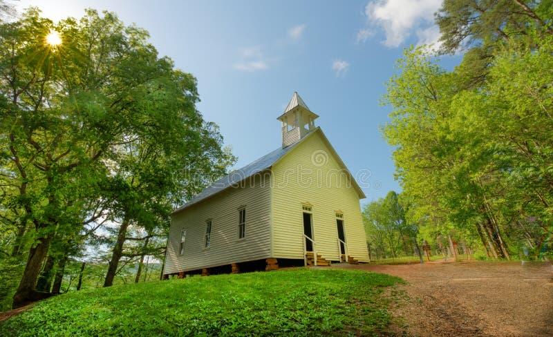 Chiesa metodista della baia di Cades fotografie stock libere da diritti