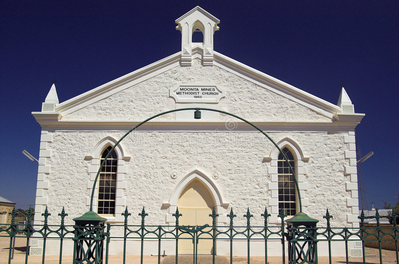 Chiesa metodista di Moonta (parte anteriore immagine stock libera da diritti