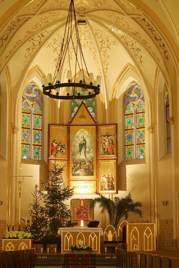 Chiesa a natale immagini stock libere da diritti