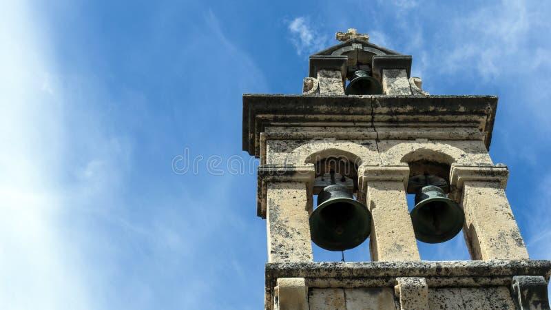 Chiesa nel cielo fotografia stock