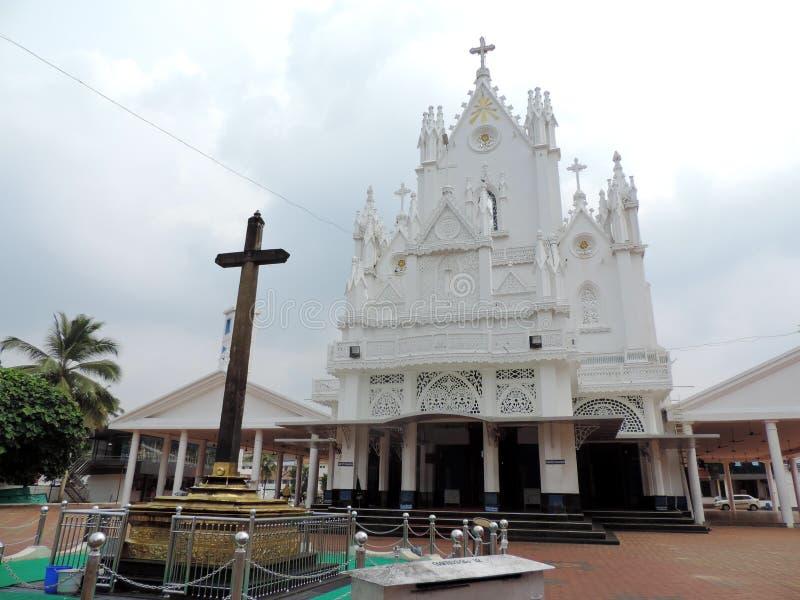 Chiesa nel Kerala, India fotografia stock libera da diritti
