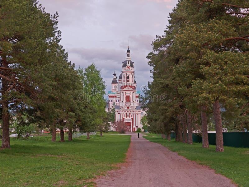 Chiesa nel monastero fotografia stock