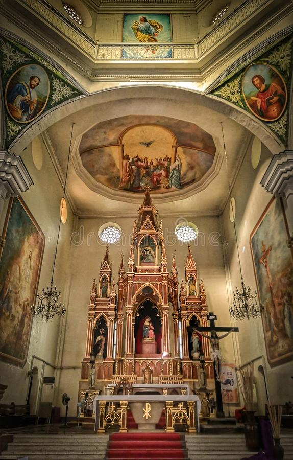 Chiesa nella città di Iloilo immagini stock libere da diritti