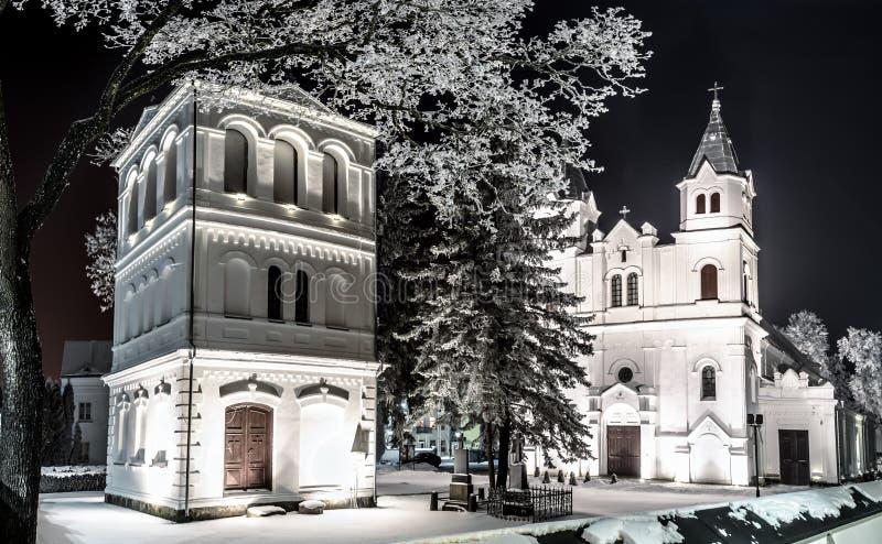 Chiesa nella città di Pasvalys, Lituania fotografia stock