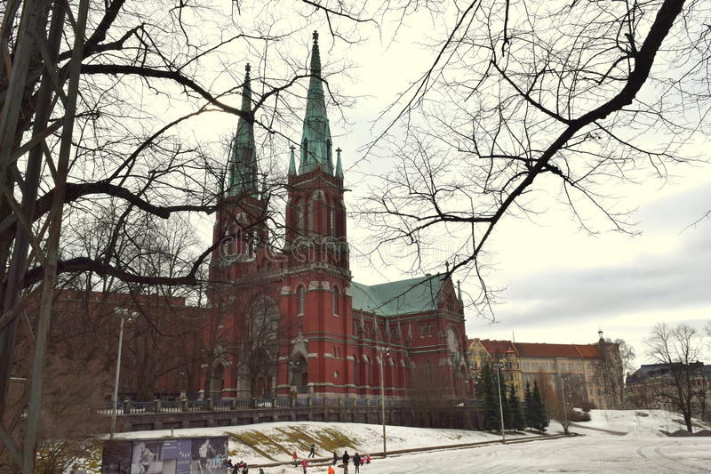 Chiesa nello stile neogotico fotografia stock libera da diritti