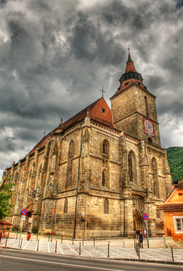 Chiesa nera in Brasov immagine stock libera da diritti