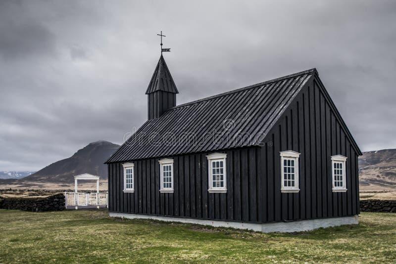 Chiesa nera di Budir immagine stock libera da diritti