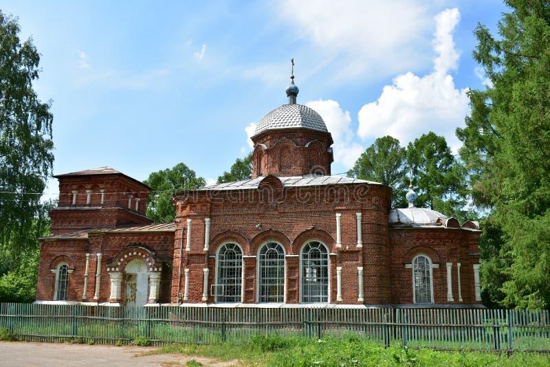 Chiesa in nome di San Nicola il Wonderworker di vecchia chiesa ortodossa russa del credente fotografia stock libera da diritti