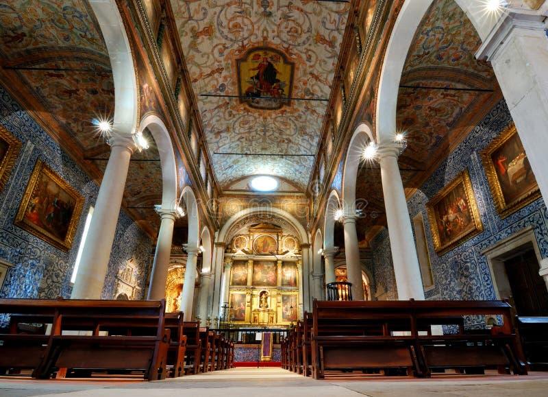 Chiesa in Obidos, Portogallo della st Mary fotografie stock libere da diritti