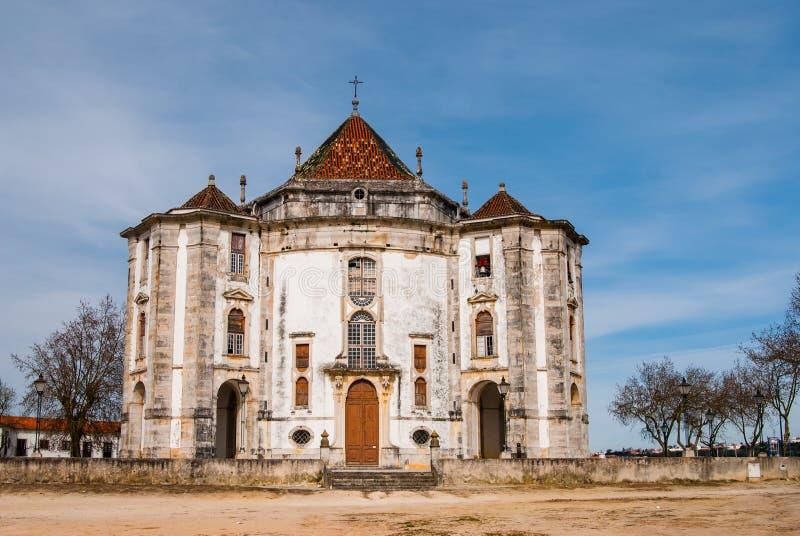 Chiesa in Obidos, punto di riferimento del Portogallo fotografia stock