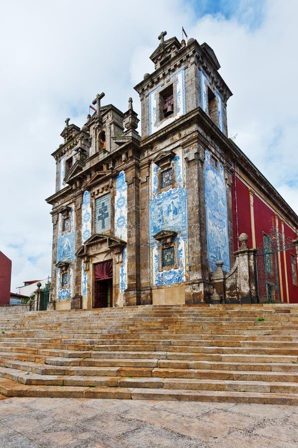 Chiesa a Oporto immagine stock