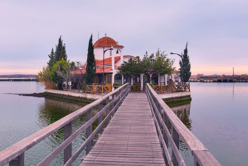 Chiesa, Oporto Lagos, Grecia fotografia stock