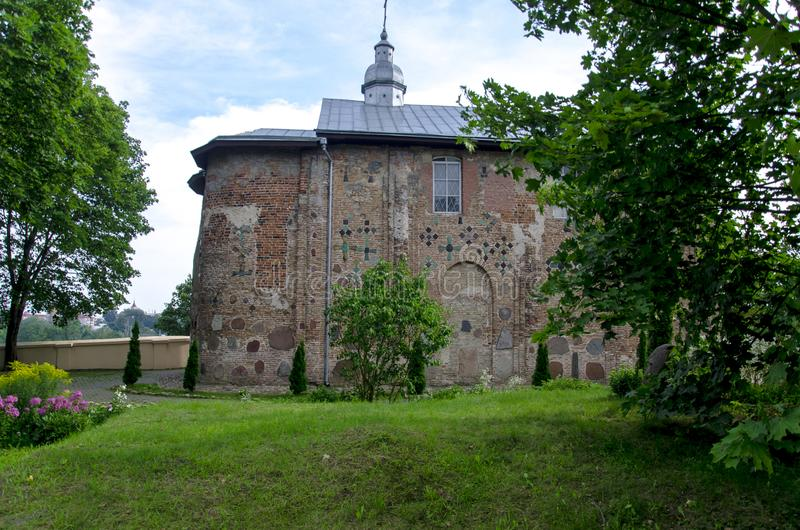chiesa ortodossa antica di Boris e di Gleb nella città di Grodno Repubblica Bielorussa fotografia stock