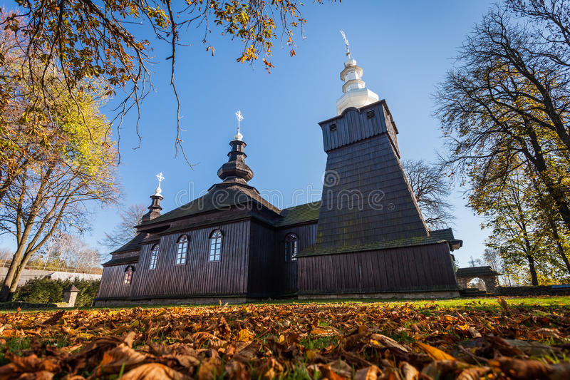 Chiesa ortodossa in Brunary, Polonia fotografia stock libera da diritti