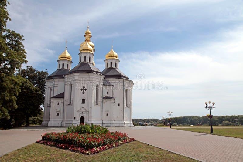 Chiesa ortodossa in Chernigiv, Ucraina fotografia stock libera da diritti