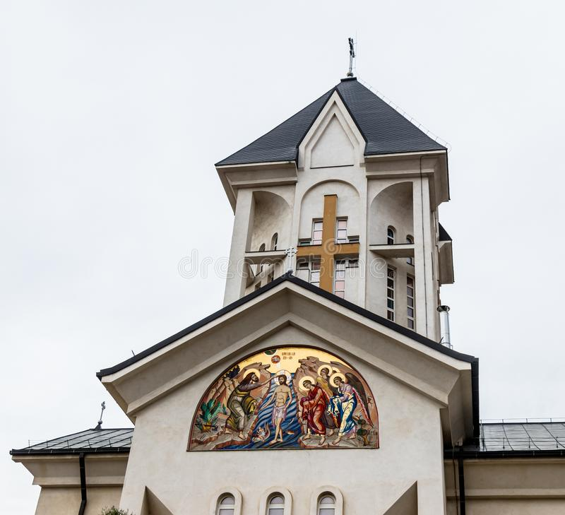 Chiesa ortodossa degli imperatori santi Costantina e Helena su Alexandru Odobescu Street nella città di Brasov in Romania fotografie stock
