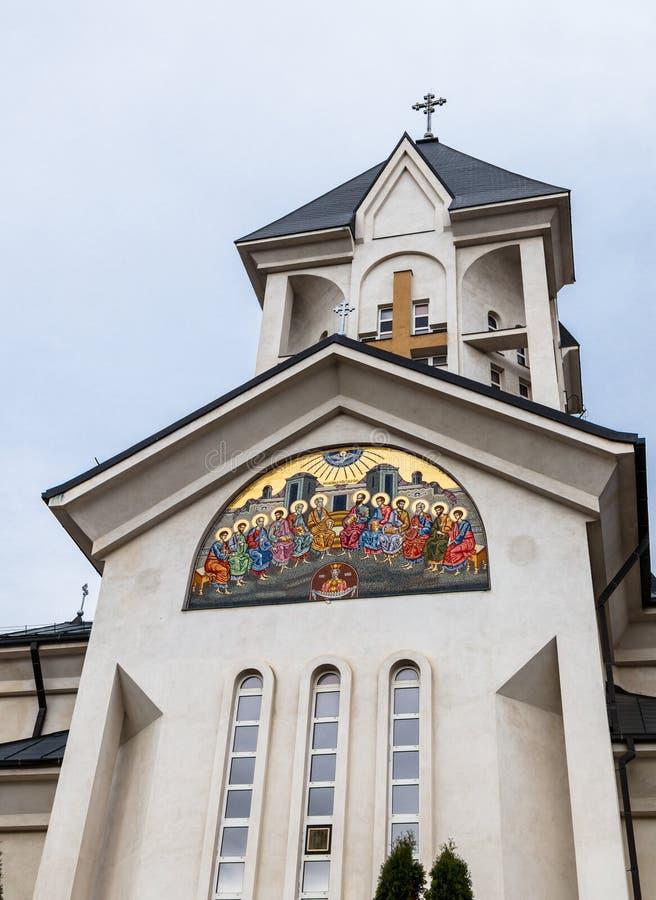Chiesa ortodossa degli imperatori santi Costantina e Helena su Alexandru Odobescu Street nella città di Brasov in Romania immagine stock