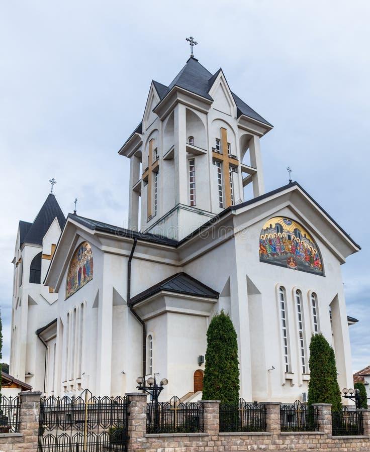 Chiesa ortodossa degli imperatori santi Costantina e Helena su Alexandru Odobescu Street nella città di Brasov in Romania immagini stock