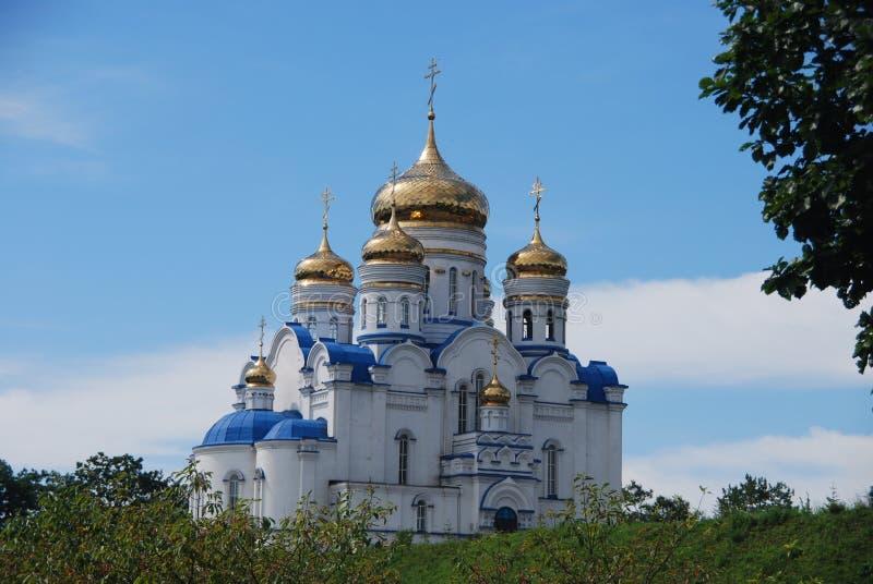 Chiesa ortodossa della città di Nachodka Russia immagini stock libere da diritti