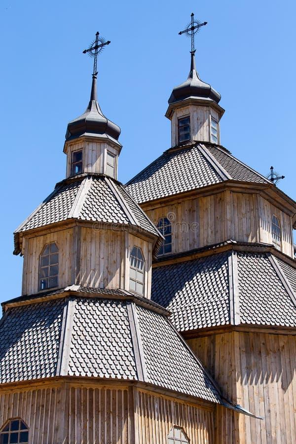 Chiesa ortodossa di legno a Kiev, Ucraina immagine stock