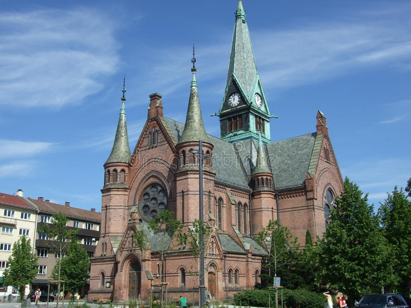 Chiesa a Oslo immagini stock