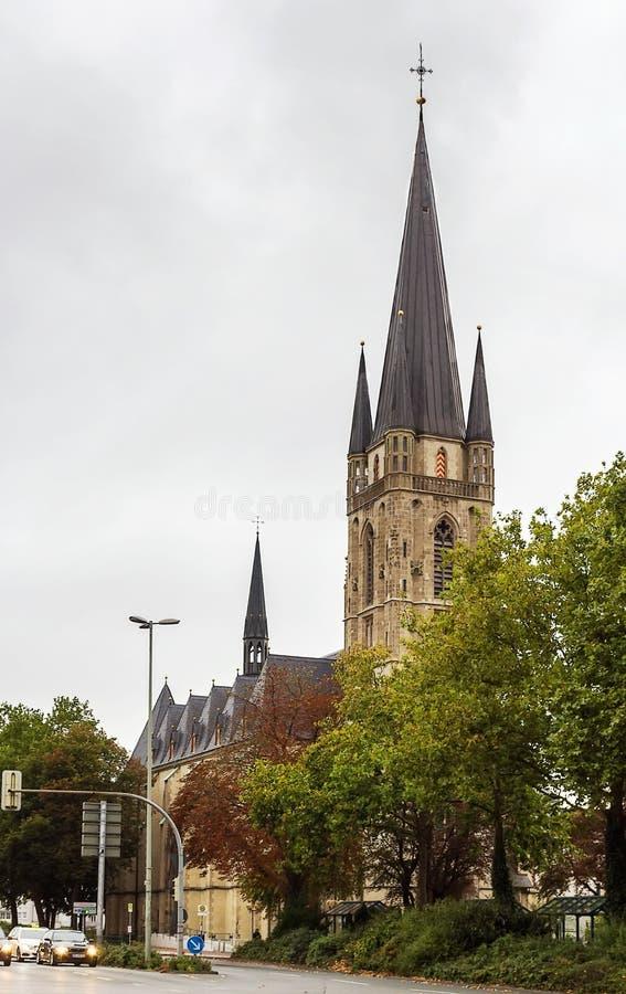 Chiesa a Paderborn, Germania immagini stock