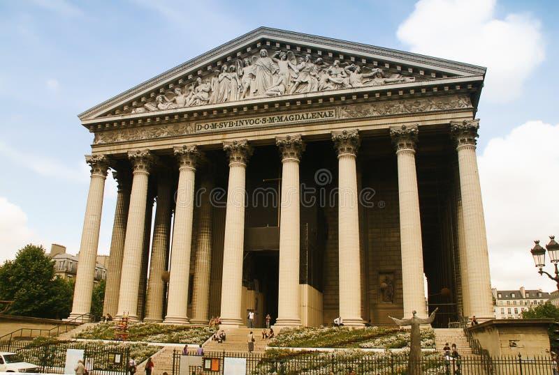 Chiesa Parigi della Madeleine della La fotografia stock