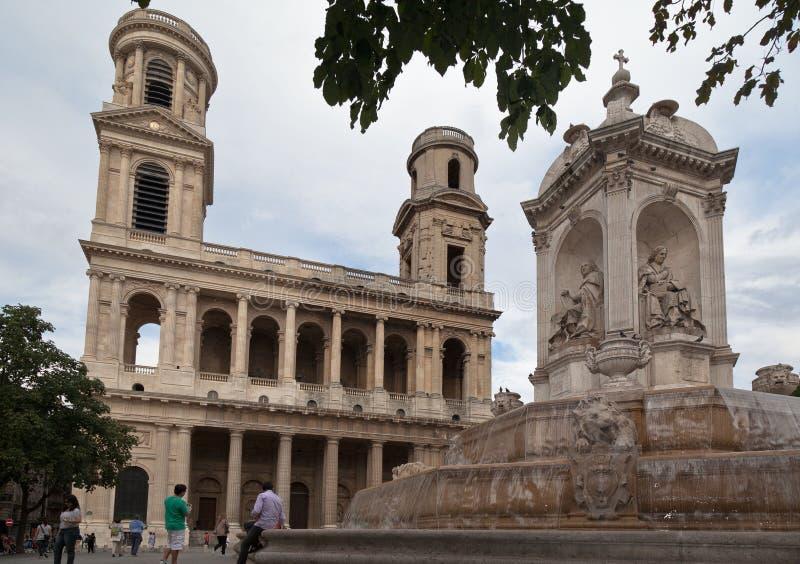 Chiesa Parigi di Sulpice del san immagine stock libera da diritti