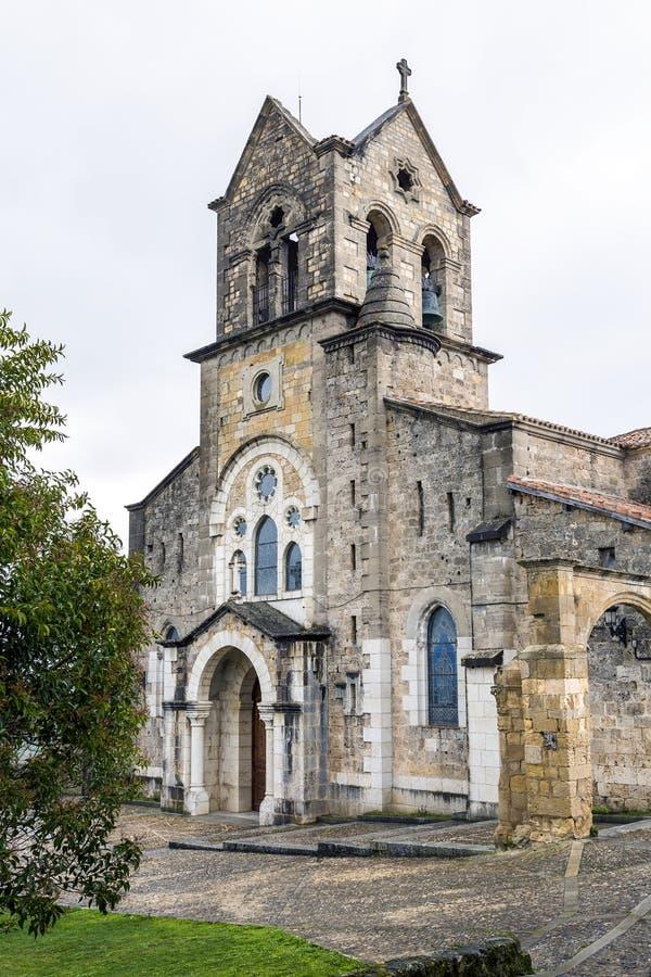 Chiesa parrocchiale di San Vicente Martir e di San Sebastian, Frias Burgos fotografia stock