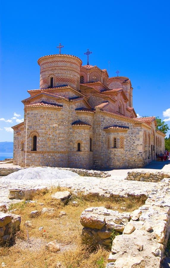 Chiesa Plaosnik di Medievel in Ohrid fotografia stock libera da diritti