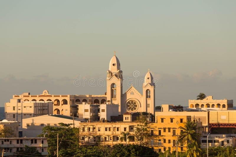 Chiesa portoricana alla luce di sera di Wam immagini stock libere da diritti