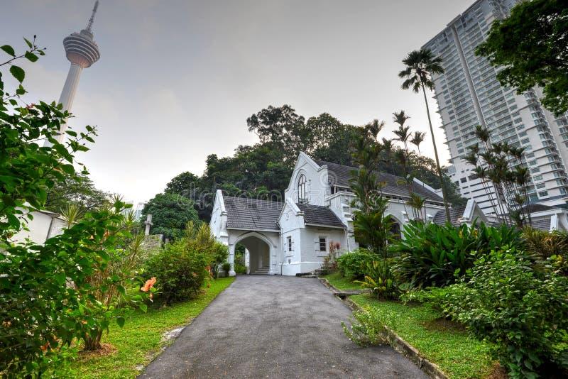Chiesa presbiteriana del ` s di St Andrew, Kuala Lumpur immagine stock libera da diritti