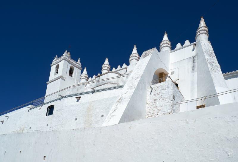 Chiesa principale - un precedente matriz di Igreja della moschea Mertola Al di Baixo fotografia stock